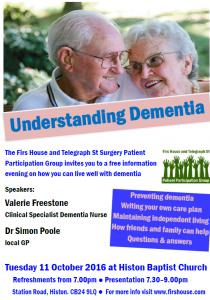 Understanding Dementia Event Poster