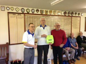 Cottenham Bowls Club Defibrillator