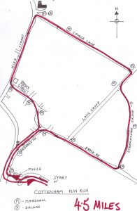 Cottenham Fun Run course