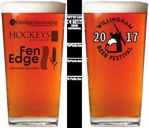 Willingham Beer Festival Beer Glass