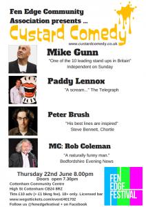 Custard Comedy at Fen Edge Festival