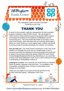 Willingham Youth Club and the Co-op