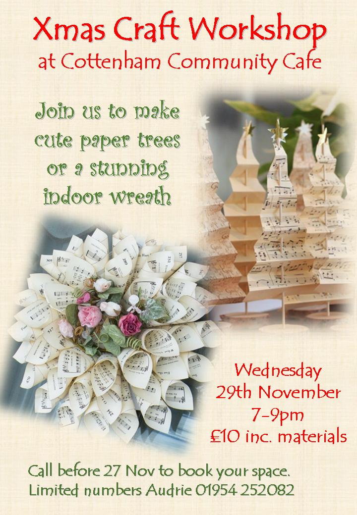 Christmas Craft Workshop at Cottenham Community Centre