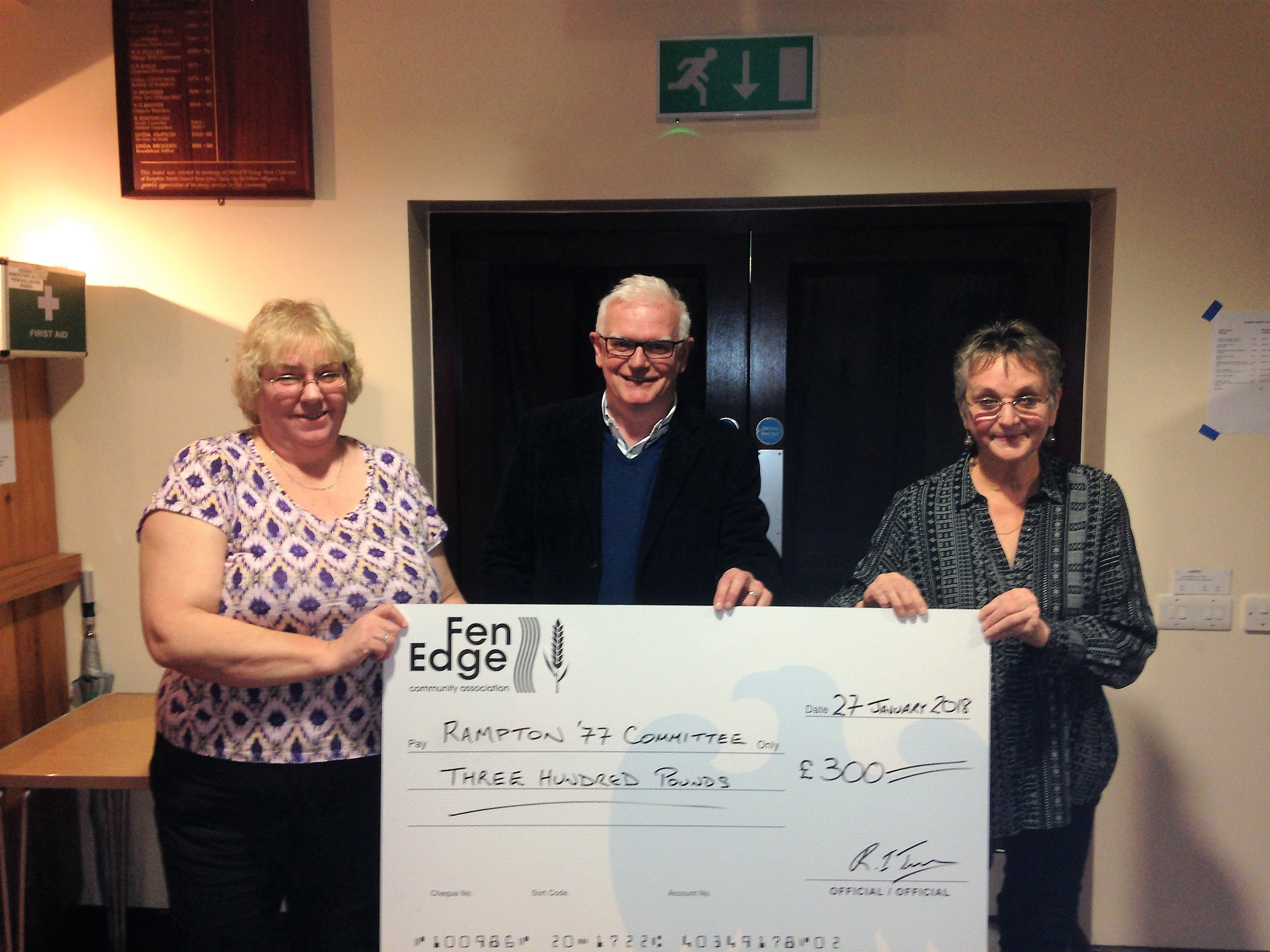 Rampton '77 Committee Grant from Fen Edge Community Association