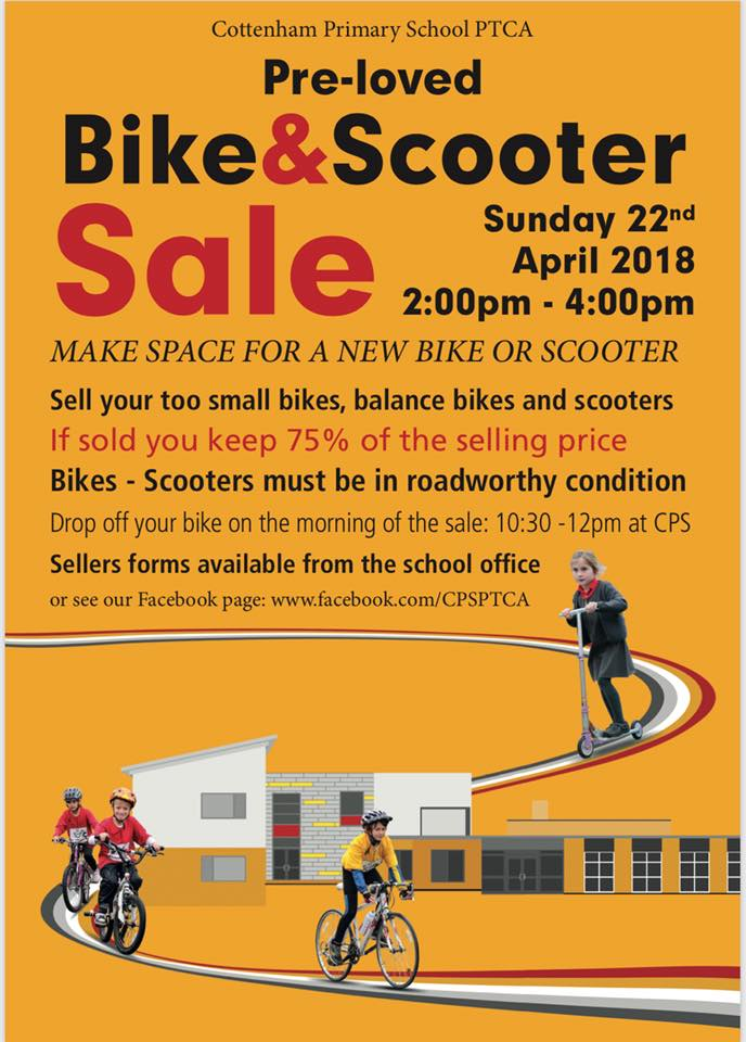 Cottenham Primary School PTCA Bike Sale