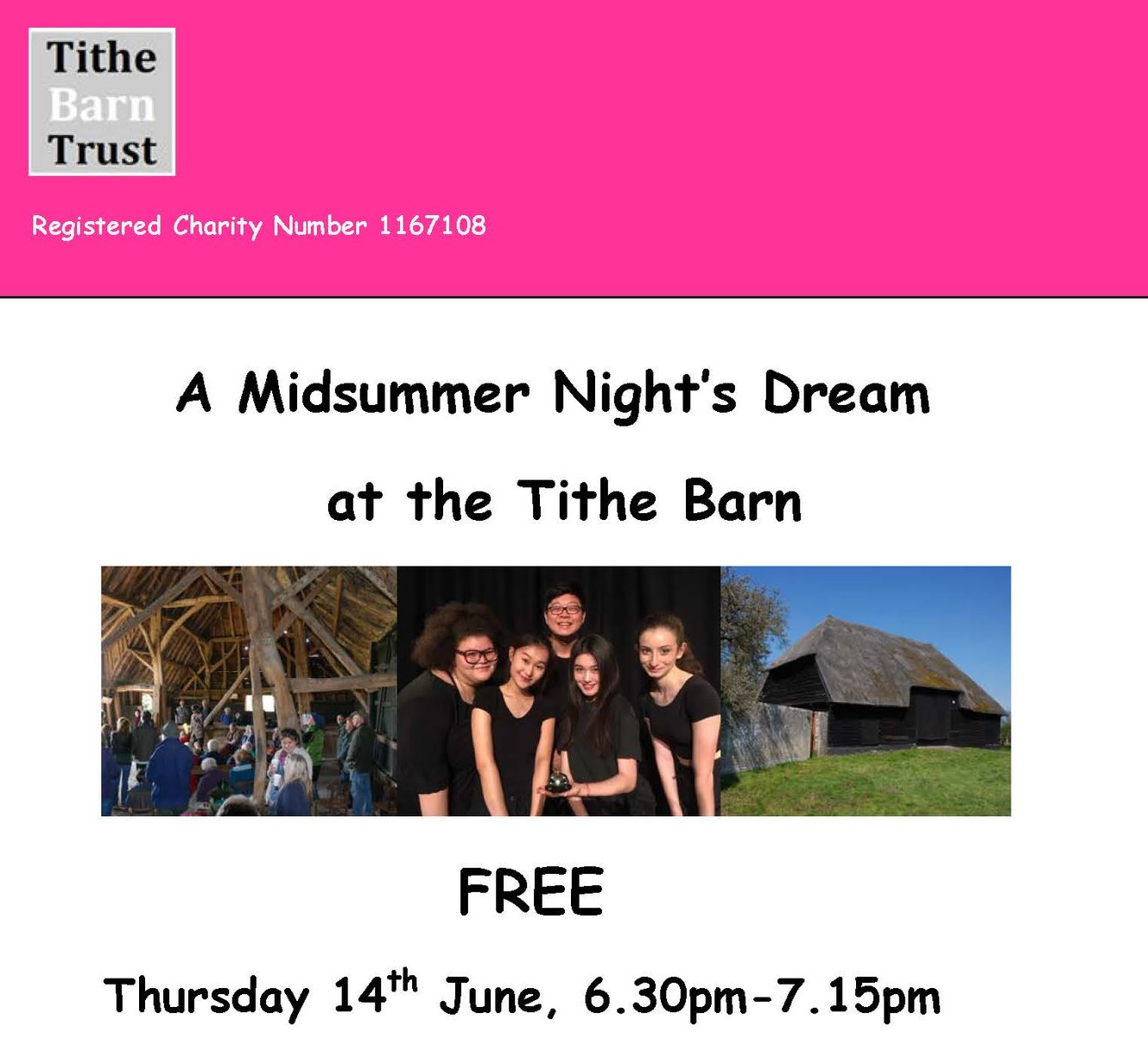 Landbeach Tithe Barn Shakespeare