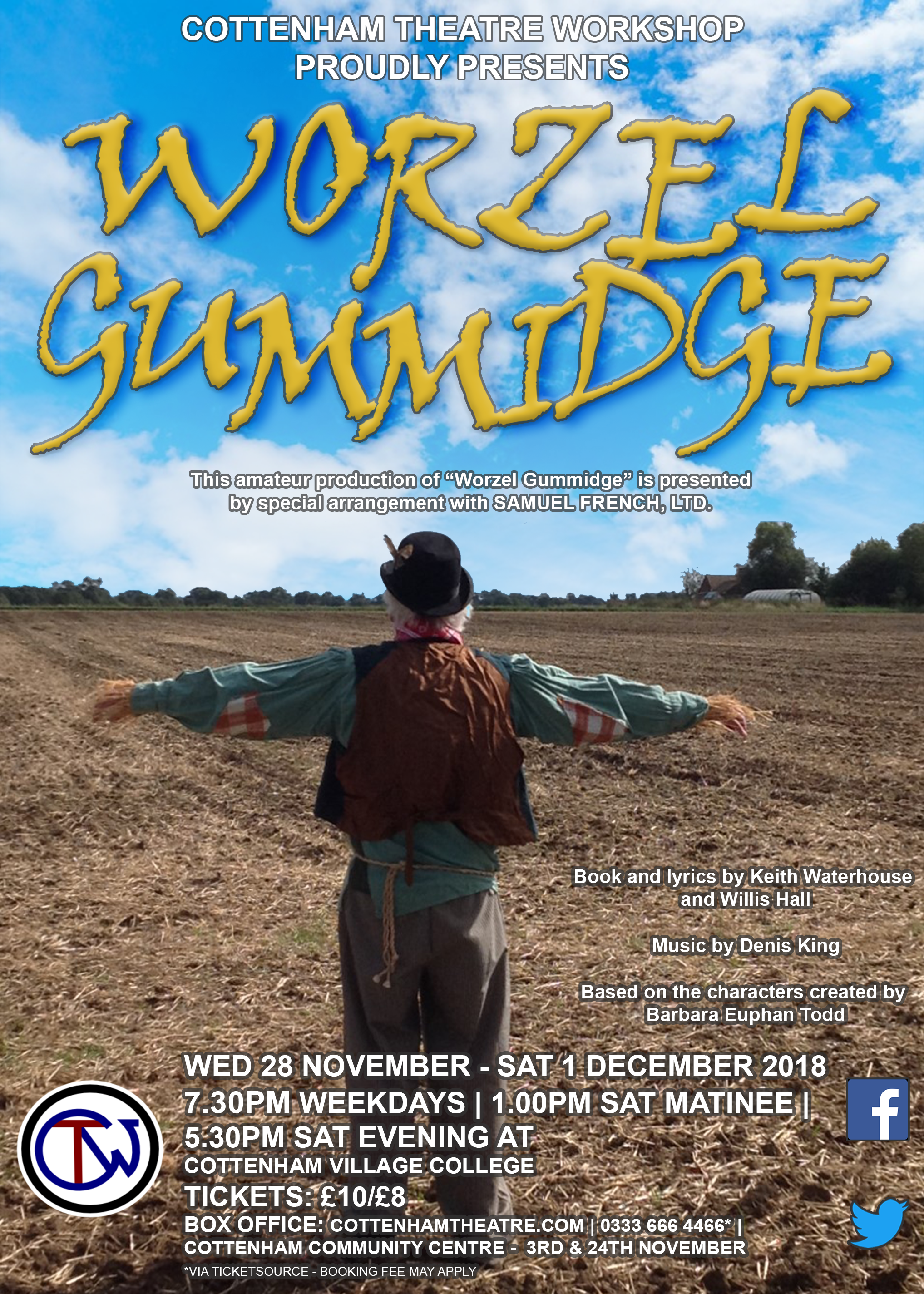 Worzel Gummidge Cottenham Theatre Workshop