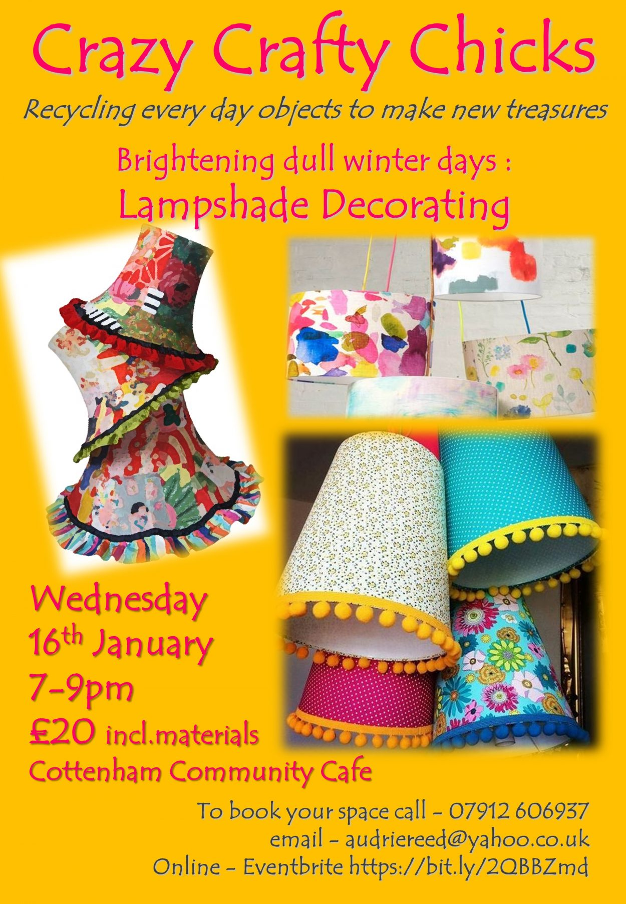 Crazy Crafty Chicks Decorating Lampshades