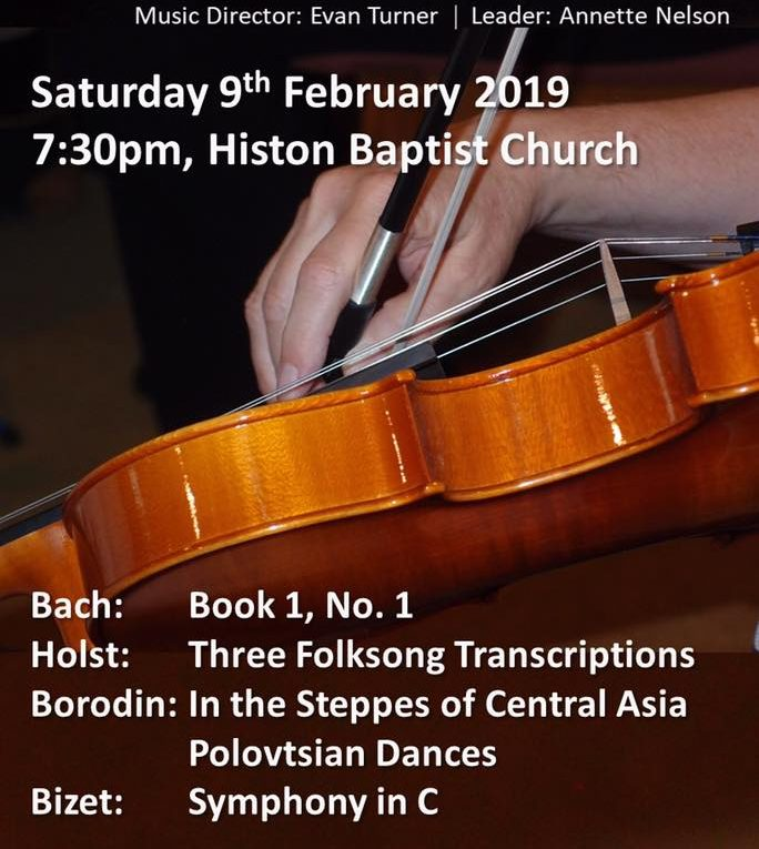 Fen Edge Orchestra Concert 9 February 2019