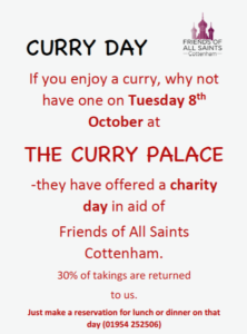 riends of All Saints Cottenham Curry Day
