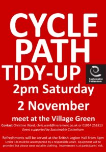 Cottenham Cycle Path Tidy-up November 2019