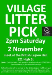Cottenham Village Litter Pick November 2019