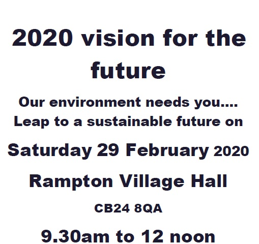 Rampton Village Hall 2020 Vision for the future