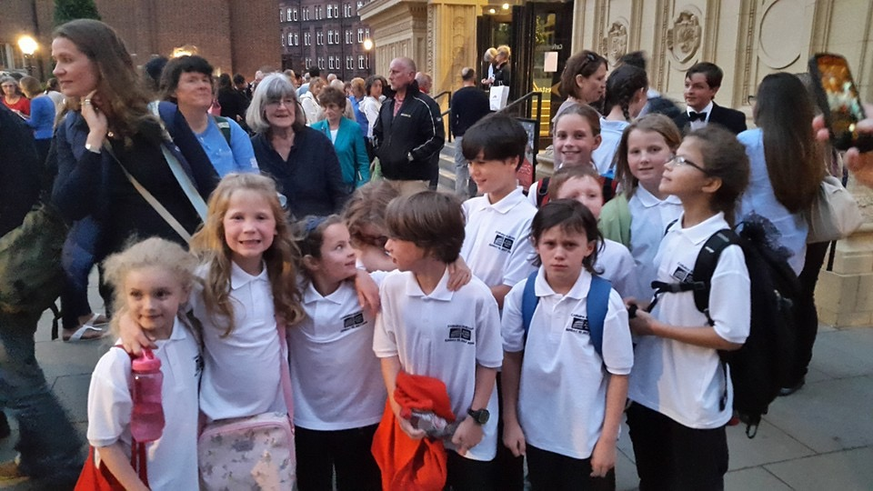 Tongue Twisters choir Cottenham outside the Royal Albert Hall