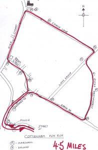 Cottenham Fun Run course