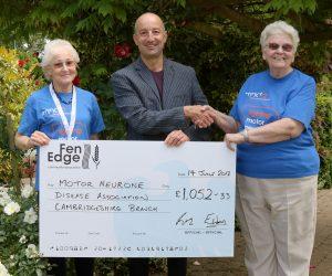 Cottenham Fun Run Cheque Presentation
