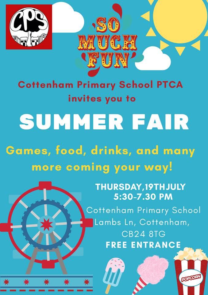 Cottenham Primary School PTCA Summer Fair