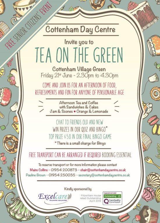 Tea on the Green Cottenham Day Centre