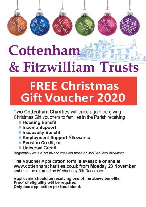 Cottenham Charities Christmas Voucher 2020